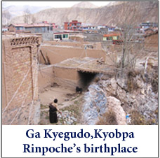 image of Ga Kyegudho, Tibet, the birthplace of Kyoba Rinpoche