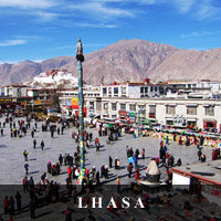 photo of Jwo Khang courtyard in Lhasa