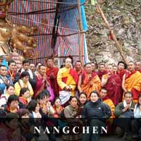 photo of various lamas of Nangchen and lay people
