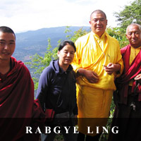photo of Loga Rinpoche and Genyen Jamyangling in Rabgye Ling, Yunan